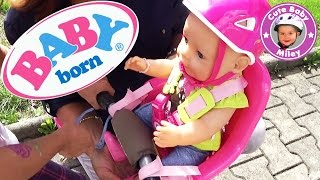 Baby Born Fahrradsitz und Helm für die Puppe Zapf Creation - Kinderkanal