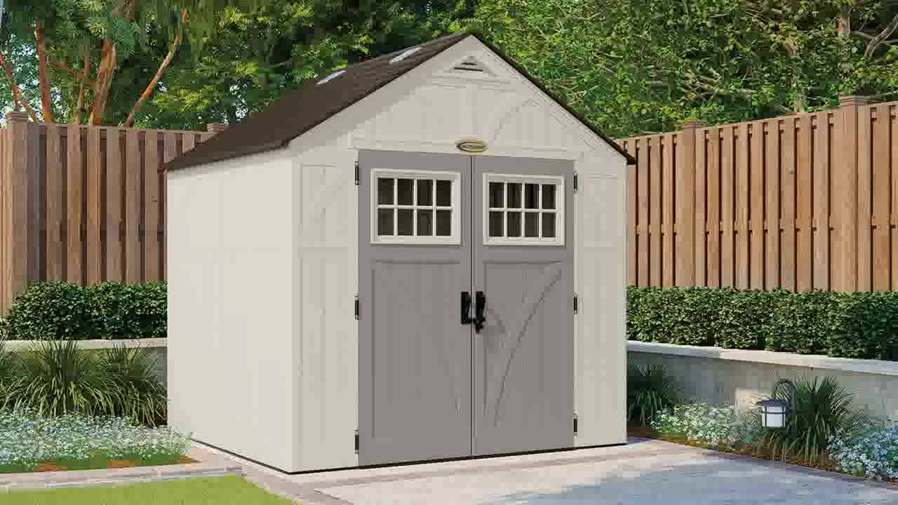 suncast tremont 8 x 7 storage shed youtube
