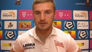 Bartłomiej Dudzic po meczu Jagiellonia Białystok - Cracovia (1.08.2014)