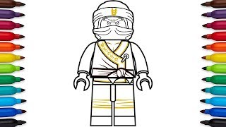 How to draw Lego Ninjago Cole from the Lego Ninjago Movie