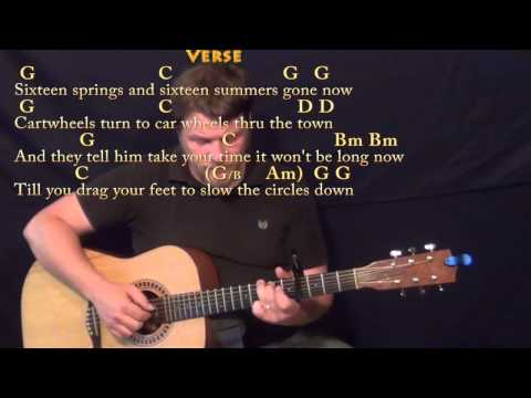 The Circle Game (Joni Mitchell) Fingerstyle Guitar Cover Lesson with Chords/Lyrics