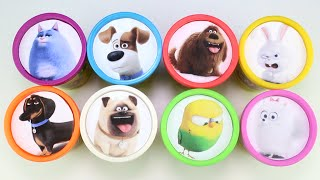 Learn Colors with Secret Life of Pets Playdoh Cups
