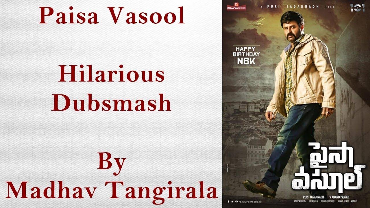 Paisa Vasool - Madhav Tangirala hilarious dubsmash review.
