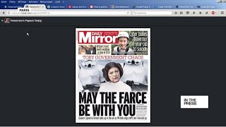'May the farce be with you'  Political chaos continues in the UK