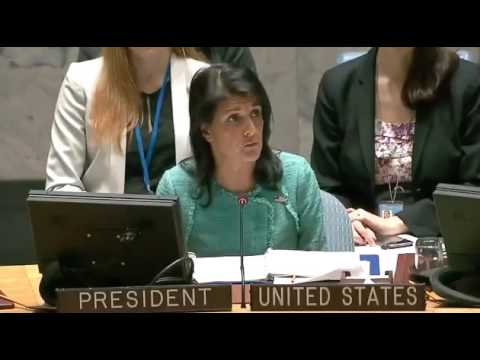 """Nikki Haley to UN Security Council: """"We Need to Put Pressure on Russia"""""""