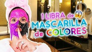 RETO: 1 LIBRA DE MASCARILLA DE COLORES 🌈 PEEL OFF!!! FUNCIONA? | Camila Guiribitey