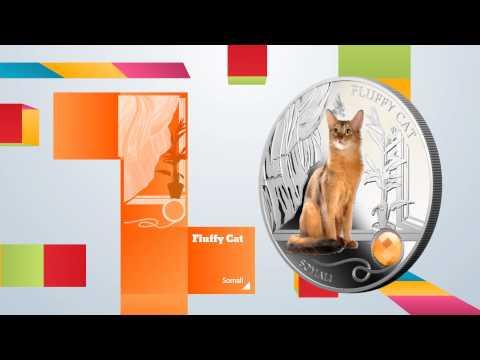 Dogs and Cats Fiji 2013 Silver Coin II Release Bulldog Dachshunds POMERANIAN LEOPARDUS BENGAL SOMALI