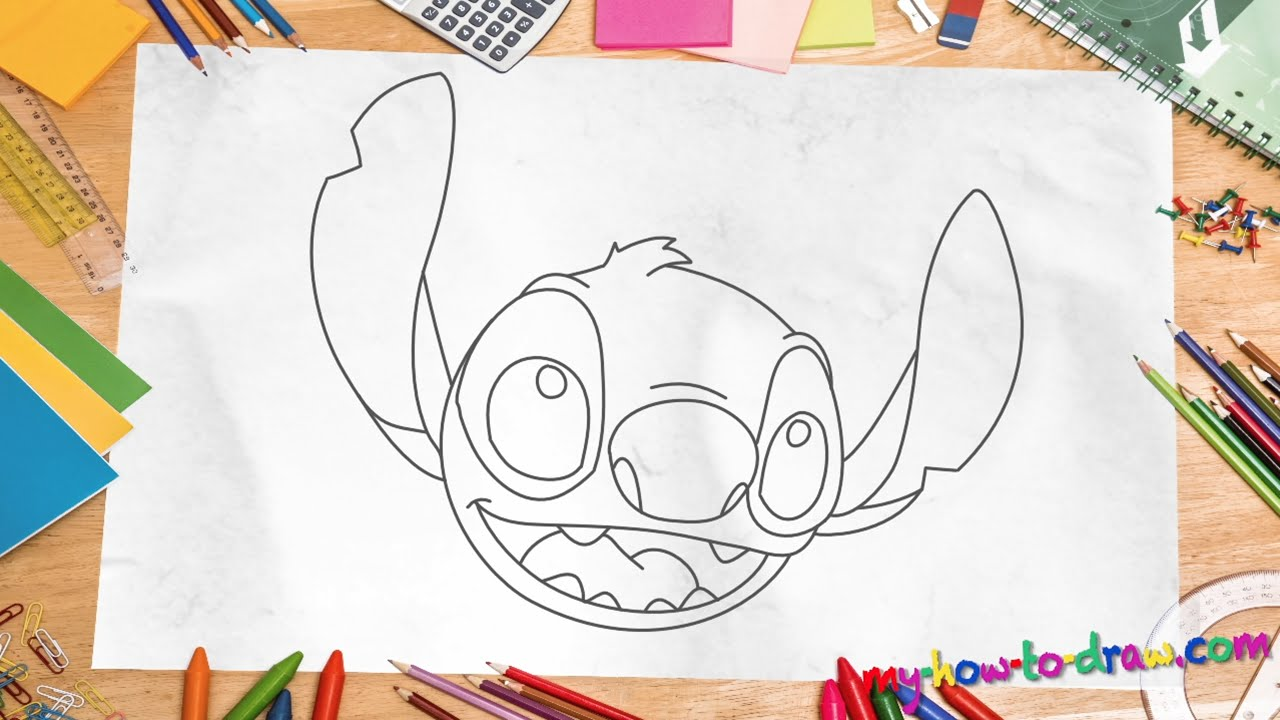 How To Draw Stitch Easy Step By Step Drawing Lessons For Kids
