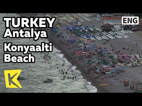 【K】Turkey Travel-Antalya[터키 여행-안탈리아]햇볕 내리쬐는 콘야알트 해변/Konyaalti Beach/Orange/Blue Flag