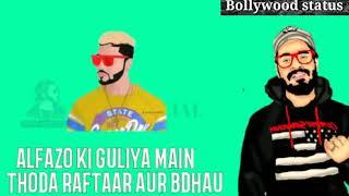 New rap whatsapp status lyrics videos //by Bollywood status