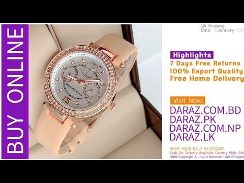 Beautiful Luxury Wrist Watches For Girls 3 Daraz Online