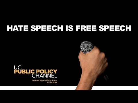 Hate Speech Is Free Speech