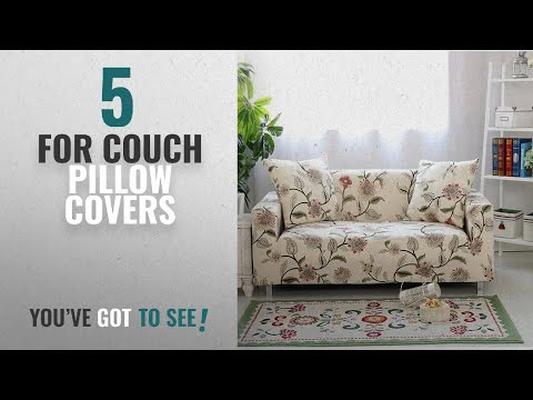 Top 10 For Couch Pillow Covers [2018 ]: Lamberia Spandex Fabric Stretch Sofa Slipcover Couch Covers