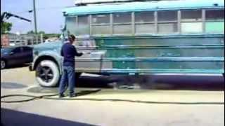 Dustless Blasting School Bus