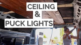 LED Puck Light Installation | VanBuild Ceiling