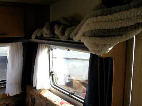 quima wohnwagen tec tour rubin 490 youtube. Black Bedroom Furniture Sets. Home Design Ideas