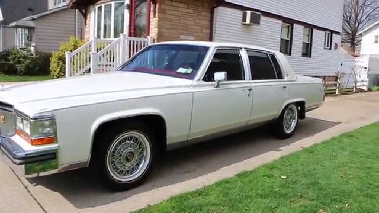 SOLD~~1989 Cadillac D'Elegance For Sale~RARE White/Red~Moon Roof~LOW