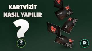 CorelDraw Kartvizit #1 - Matbaaya Uygun - CorelDRAW X7 - KT