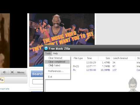 downaload streaming video and music with free music zilla