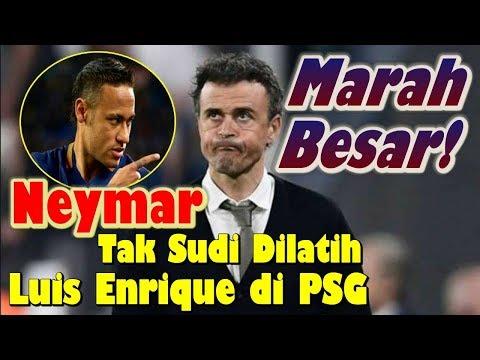 Kecewa..! Neymar Tak Sudi Dilatih Luis Enrique di PSG