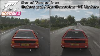 Forza Horizon 4 - 1986 Lancia Delta S4 Sound Comparison - Before and After December 13 Update