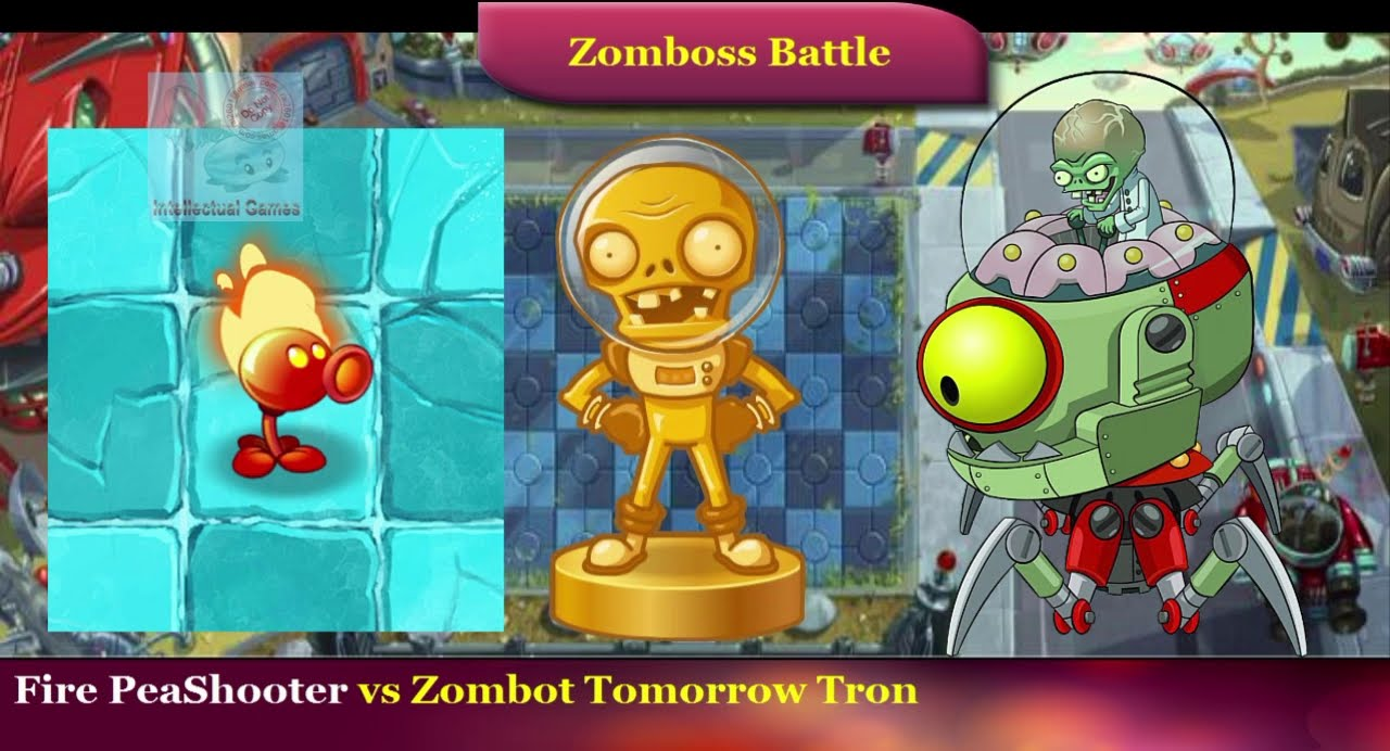 Plants vs Zombies 2 - Frostbite Caves Zomboss Battle Fire ...
