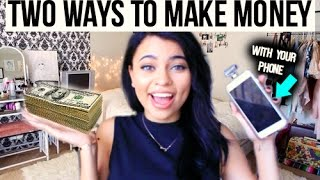 2 WAYS TO MAKE MONEY WITH YOUR PHONE !(Today im going to show you guys how I make some extra cash and giftcards! ♡♡♡♡♡♡♡♡♡♡ -FREE MY APPS: ..., 2015-10-11T01:06:41.000Z)