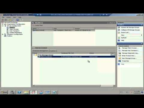 Exchange 2007 Move Mailbox and Storage group.mp4