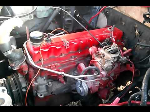Chevy 250 inline 6 - YouTube