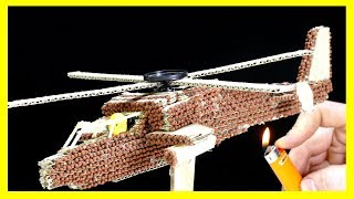 WOW!!! Experiment: Chain Reaction Diy Helicopter from Matches thumbnail
