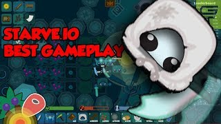STARVE.IO - BEST GAMEPLAY  // WINTER PEASANT'S TUNIC + DRAGON SWORD // GT CLAN