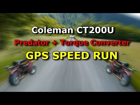 Coleman CT200U Mini Bike - GPS Speed Test with Torque Converter/ Pedator Engine