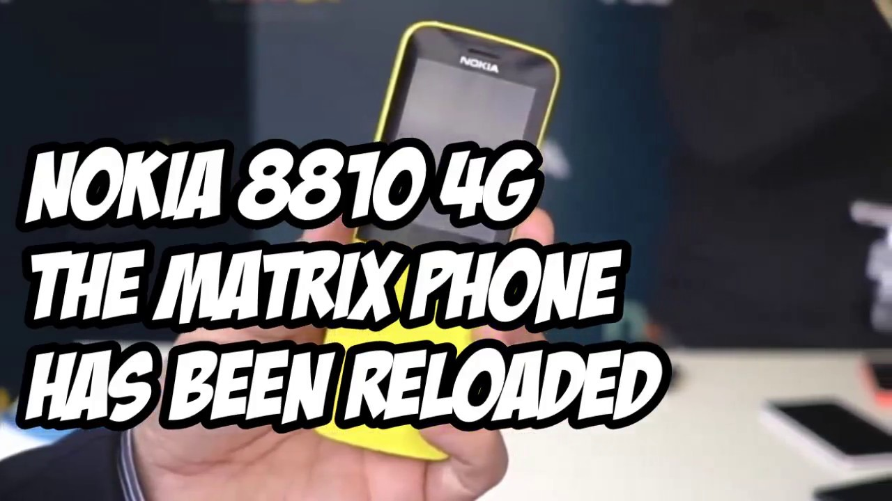 buy online 01a7f 15698 NOKIA 8810 4G REVIEW | The Matrix Phone Has Been Reloaded!
