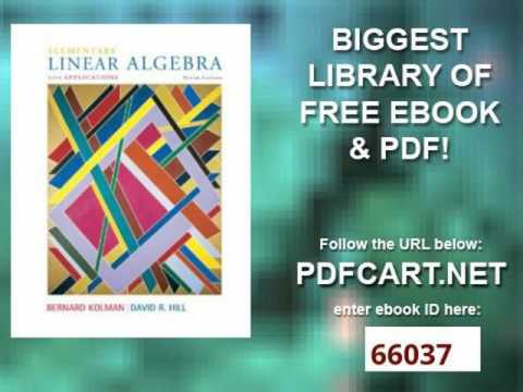 Elementary Linear Algebra Kolman 9th Edition Pdf
