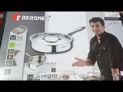 Bergner 26 Cm Saute Pan With Lid