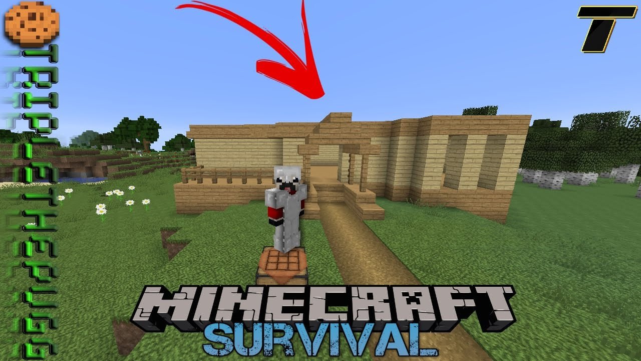 Starting to build my house minecraft survival episode 5 youtube Build my house