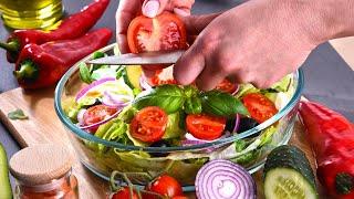 Время готовить летние салаты! 6 Салатов из свежих овощей и фруктов. Рецепты от Всегда Вкусно!