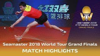 Xu Xin vs Lin Gaoyuan | 2018 ITTF World Tour Grand Finals Highlights (1/4)