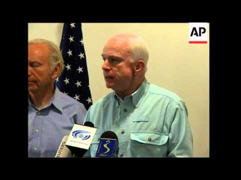 US senator McCain and delegation on visit ahead of poll, sbites