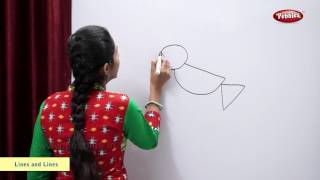 Drawing a Bird using Lines and Curves   Maths For Class 2   Maths Basics For CBSE Children