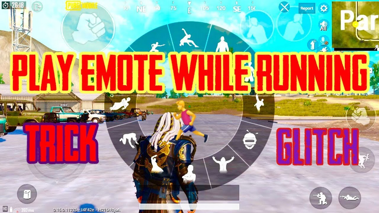 How to use EMOTE while Running GLITCH OR TRICK! - PUBG MOBILE