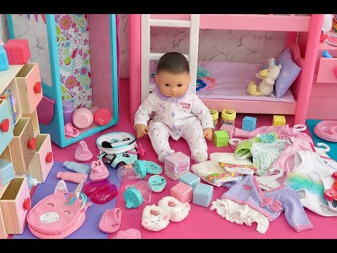 NURSERY REVEAL ~ NEW BABY DOLLHOUSE ROOM CLOSET CLEANING TOUR!