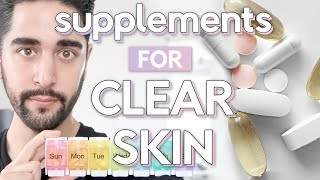 The Best Supplements For Clear Skin - Vitamins, Collagen, Vitamin C & More ✖ James Welsh