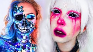 15 Cool DIY Halloween Makeup IDEAS + GRWM DYI Costumes 2018