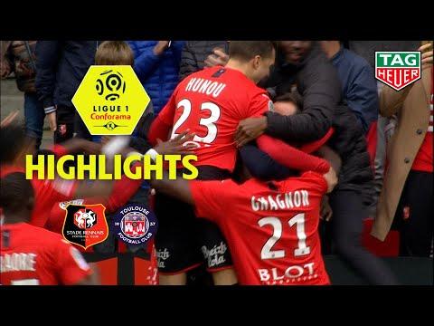 Stade Rennais FC - Toulouse FC ( 3-2 ) - Highlights - (SRFC - TFC) / 2019-20