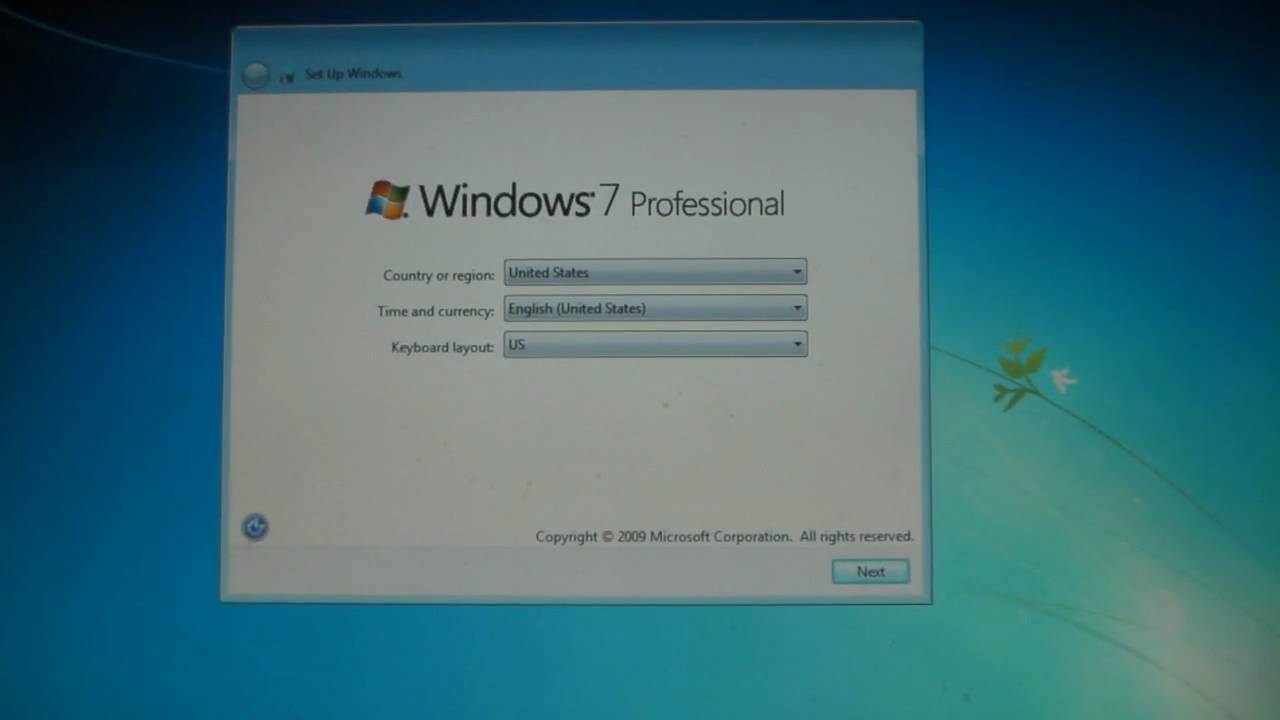 New windows 7 professional install and comments first for Window 7 professional