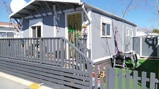 Unique Aitana Parkhome For Sale On Camping Almafra Caravan Park In Benidorm.