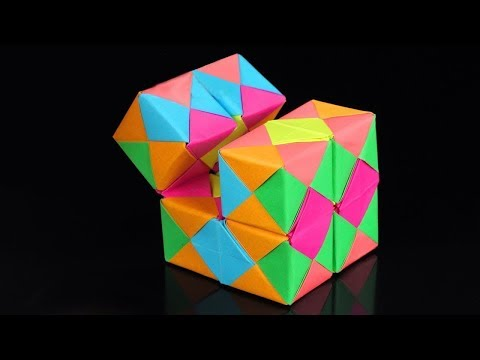 How To Make A Paper INFINITY CUBE!   origami infinity cube diy  paper infinity cube diy