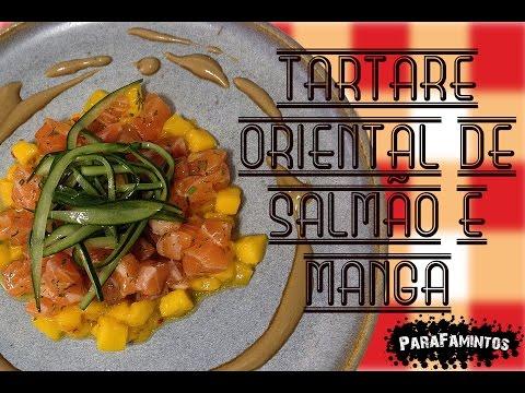 TARTARE ORIENTAL DE SALMÃO E MANGA - RECEITINHAS #02
