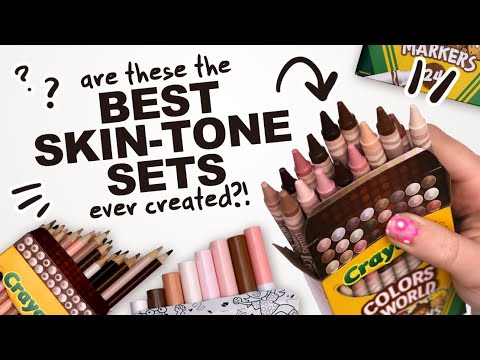 Download DID CRAYOLA JUST MAKE THE BEST SKIN TONE SET?! | Markers, Pencils, and Crayons!